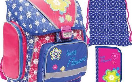 Školní set P + P Karton Flowers + Doprava zdarma