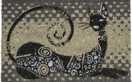 BO-MA Trading Kokosová rohožka ležící kočka, 40 x 60 cm