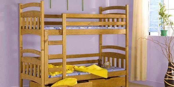 Levná patrová postel Terry - DOPRAVA ZDARMA!