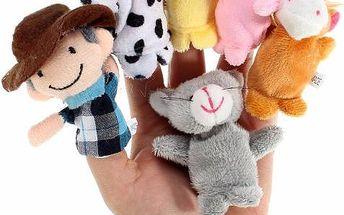 Sada 10 maňásků na prsty - zvířecí farma - skladovka - poštovné zdarma