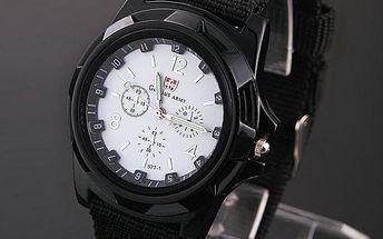 Sportovní hodinky s textilním páskem - 5 barev