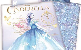 Herding Dětské bavlněné povlečení Cinderella, 140 x 200 cm, 70 x 90 cm