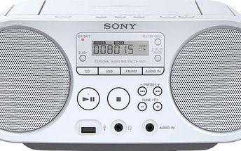 Sony ZS-PS50, bílá - ZSPS50W.CET + Sluchátka SONY MDR-ZX110 v ceně 499 Kč