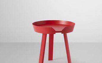Muuto konferenční stolek Around 45 cm malý, červený