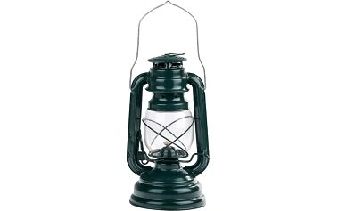 Petrolejová lucerna 25 cm, zelená