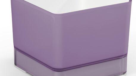 Plastový květináč Cube 120 fialová