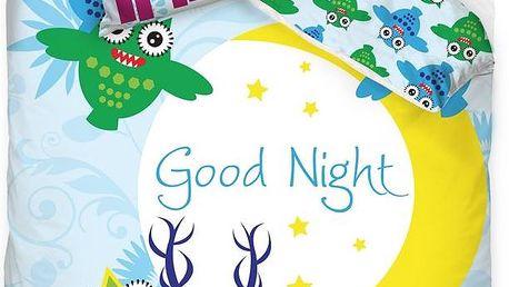 Tip Trade Dětské bavlněné povlečení Good night Monster, 140 x 200 cm, 70 x 90 cm