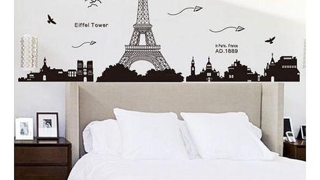Samolepka na zeď s Eiffelovou věží