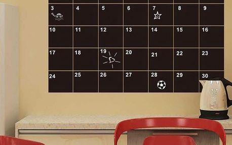 Samolepicí tabule na zeď - měsíční plánovač