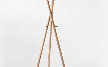 LUGI Dřevěný věšák 01 180 cm, jasan masiv