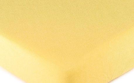 4Home jersey prostěradlo žlutá, 160 x 200 cm