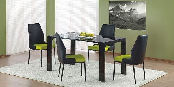 Kevin - jídelní stůl (sklo - černá/černá)