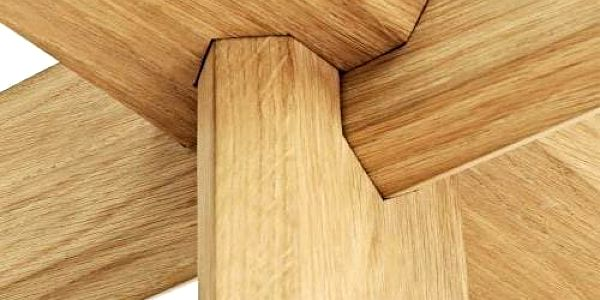 Normann Copenhagen Stůl Ding 40 cm, dřevěný4