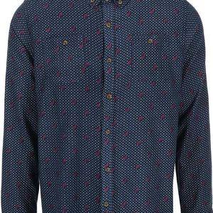 Tmavě modrá vzorovaná košile D-Struct Reece