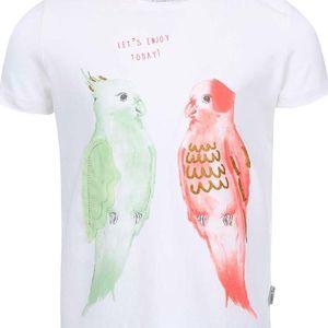 Bílé holčičí tričko s papoušky name it Tilaya