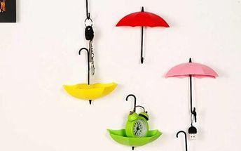 Dekorace v podobě deštníčků - 3 kusy