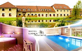 Střední Čechy, luxusní pobyt na 3 dny pro dva s polopenzí a wellness v Hotelu Lions Nesuchyně