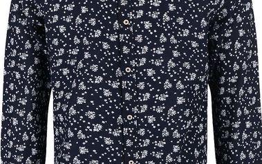 Tmavě modrá vzorovaná košile Jack & Jones Willis