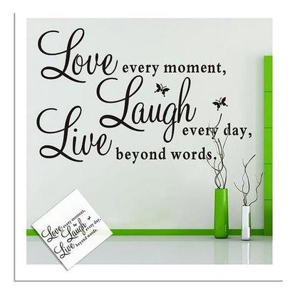 Samolepka na zeď - Love, Live, Laugh