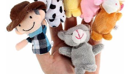 Sada 10 maňásků na prsty - zvířecí farma - dodání do 2 dnů