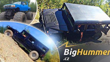 Hummer H1 nebo Monster Truck: 30 min. na místě řidiče na offroad dráze + spolujezdec zdarma