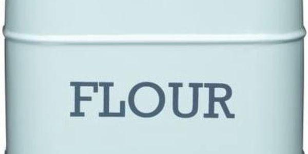 Plechová dóza Kitchen Craft Flour, modrá