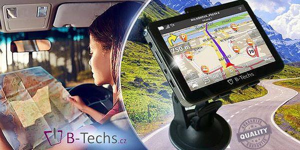 Super rychlá GPS Navigace B-Techs s doživotní aktualizací map a výběrem z 11 variant