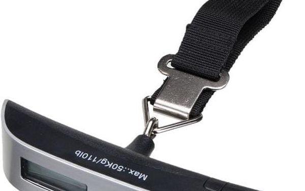 Cestovní váha na zavazadla v šedé barvě