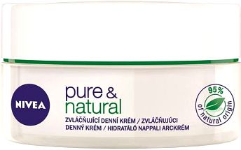 Nivea Zvláčňující denní krém pro normální až smíšenou pleť Pure & Natural 50 ml