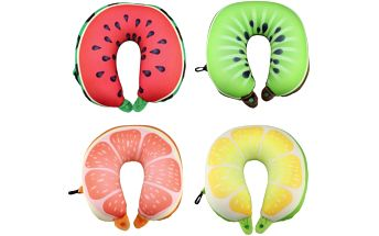 Cestovní polštář ve tvaru U - design ovoce - dodání do 2 dnů