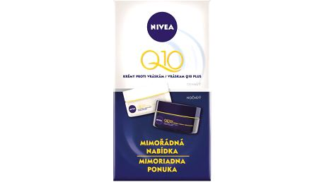 Nivea Sada denní a noční péče proti vráskám Q10 Plus + NIVEA přívěsek Swarovski ZDARMA!