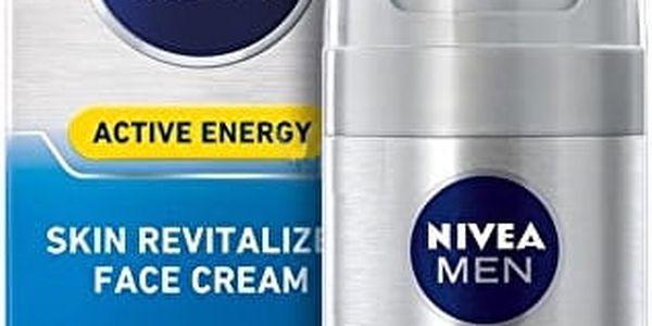 Nivea Energizující pleťový krém pro muže Active Energy Q10 50 ml + NIVEA přívěsek Swarovski ZDARMA!