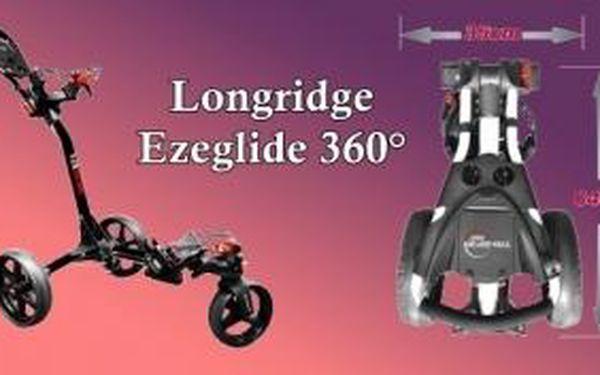 Získejte vychytaný golfový vozík Eze Glide Tri-Spin Compact 360° v černé barvě včetně držáku na deštník za hodně příznivou cenu - jen pár kusů skladem