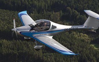 Vyhlídkový let až na 60 min + pilotem na zkoušku