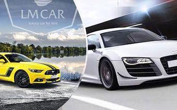 Ford Mustang nebo Audi R8 - až 60min. jako řidič nebo spolujezdec. Platnost do 30.6.2017