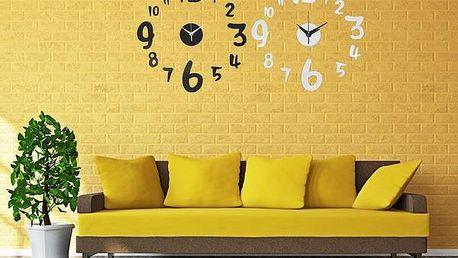 3D nástěnné hodiny se samolepkou na zeď