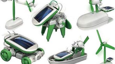 Solar bot 6 v 1 - interaktivní hračka na solární pohon - skladovka - poštovné zdarma