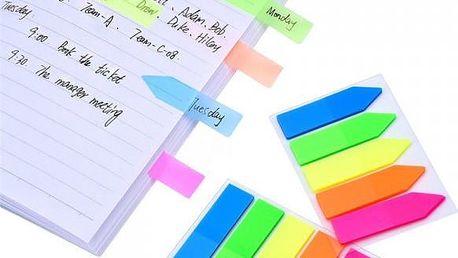 2 sady barevných lepicích papírků - 250 ks