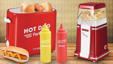 Pohoštění na párty: hotdogovač nebo popcornovač