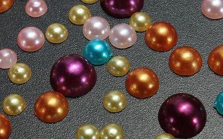 300 kusů barevných nalepovacích perliček