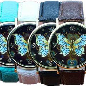 Dámské hodinky s výrazným motýlem