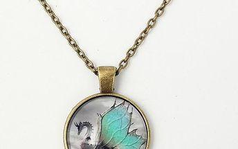 Vintage náhrdelník s přívěskem v podobě draka