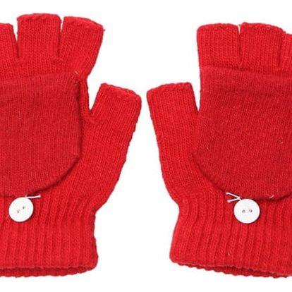 Praktické unisex rukavice s knoflíkem - dodání do 2 dnů