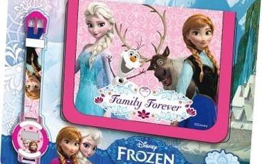 Dárková sada peněženka a hodinky Frozen