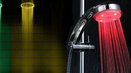 LED sprchová hlavice měnící barvu