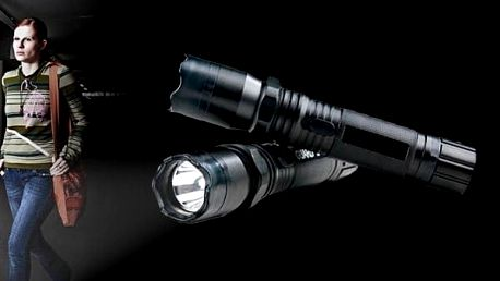 Policejní LED baterka s paralyzérem