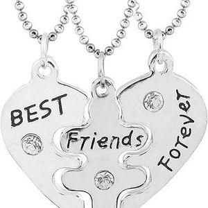 Náhrdelník pro nejlepší kamarádky - 3 ks - poštovné zdarma