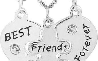 Náhrdelník pro nejlepší kamarádky - 3 ks