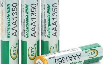 Nabíjecí tužkové AAA baterie BTY 1350mAh - 4ks - poštovné zdarma
