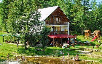 3 až 6denní pobyt pro 2 osoby v penzionu Skalovka na Slovensku